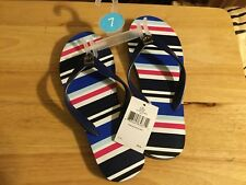 Kate Spade Oceanic Blue Stripe Flip flops- New Size 7