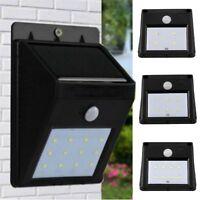 6-16 LED Solar Power Sensor Wall Light Security Motion Weatherproof Outdoor Lamp