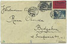 POLAND - 1938 COVER FROM SOSNOWIEC TO BYDGOSZCZ