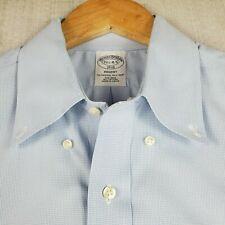 BROOKS BROTHERS REGENT 15-35 Blue Micro-Houndstooth Mens Cotton Dress Shirt