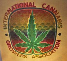 "1970's Vintage Roach Iron On "" International Cannabis Growers Association "" D135"