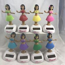 Hawaiian Lot 8 Pc Mix Color Solar Hula Girl Dancing Dashboard Hawaiian Wholesale