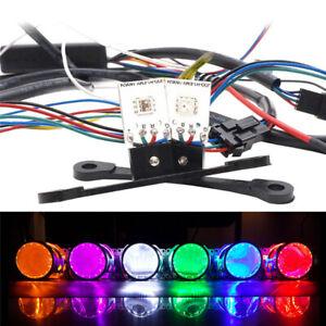 RGB LED Demon Devil Eyes For Car Headlight Projector Lens Retrofit APP Control