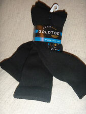 Gold Toe Mens Crew Black Socks  Arch 360 3 pack New