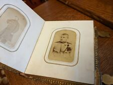 CDV album - including soldiers - Civil War era