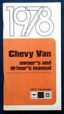 Owner's Manual * Betriebsanleitung 1978 Chevrolet Chevy Van (USA)