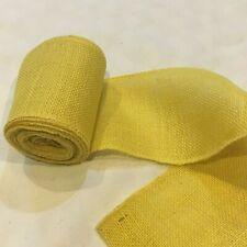 "5"" wide Yellow Burlap Ribbon 10 Yard Roll 10 oz 30 feet Finished Edges BS149"