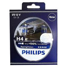 Philips 2x H4 Racing Vision Rally Autolampe Scheinwerfer Birne bis 150% Licht