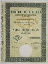 COMPTOIR TUILLIER DU Nord action de 100 Francs 1963 (MARCQ-EN-BAROEUL (Nord))