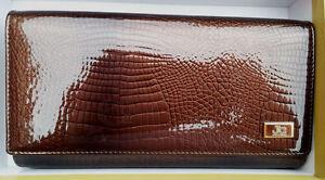 Jacky & Celeine Patent Leather Designer Large Wallet
