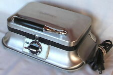New listing Cuisinart Brushed Stainless 2 Slice Belgian Waffle Maker Waf-2B Discontinued Vgc