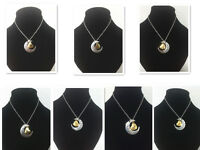 """Two-Toned Moon & Heart """" I Love You To The Moon and Back"""" Pendant Necklace"""