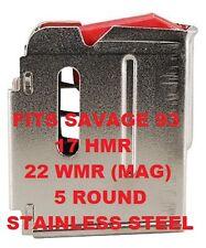 Savage Magazine Model 93 Rifle 17 HMR & 22 MAG 5 shot  90009 Stainless Steel Mag