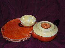 Vintage Phoenix China, Czechoslovakia Luster Ware, Partial Tea & Snack Plate Set
