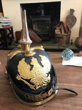 More details for first world war german prussian pickelhaube quality repro helmet
