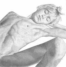 ORIGINAL Fine Art Drawing Nude Thin Slim Male Gay Interest by Etienne Benassi