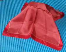 MEN'S VINTAGE 90s ITALIAN MADE RED SILK WITH A FINE WHITE POLKA DOT PATTERN POCK