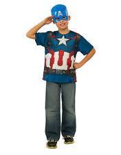 Capitán América de Superdry Kit de accesorios, niños Vengadores Traje, Grande, Edad 8 - 10