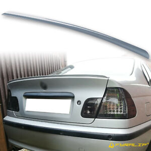 Fyralip Y22 Painted 372 Steel Blue Trunk Lip Spoiler For BMW 3 Series E46 Sedan
