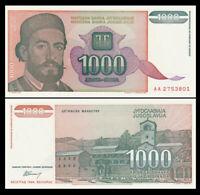 YUGOSLAVIA 1000 (1,000) Dinara, 1994, P-140, UNC World Currency