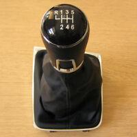 Pommeau de 6 Vitesses + Soufflet Cuir pour VW Golf 7 mk7 VII 2012+