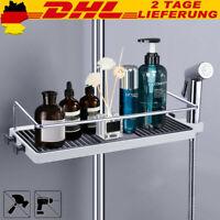 Duschregal ohne Bohren Duschablage für Duschstange Seifenkorb Höhe Verstellbar