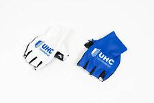 New 2016 Men's Vermarc UHC Pro Cycling Half-Finger TT Gloves, Blue/White, L
