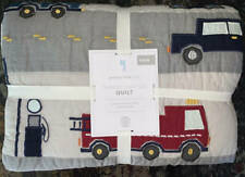 New~Pottery Barn Kids Things That Go Quilt~Trucks Cars~Twin