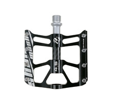 SMS MTB Road Bike Pedal Carbon Fiber 3 Sealed Bearing Widen Pedals Flat 9/16in