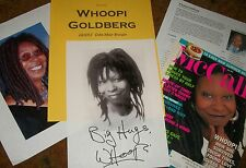 WHOOPI GOLDBERG Autographed Photo & Photos Real Collectible