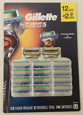 Gillette Fusion5 Proglide Refills 12+2 Proshield..(14 total blades) Sealed!!