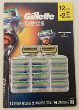 Gillette Fusion5 Proglide Refills 12+2 Proshield..(14 total blades) Brand new!!!