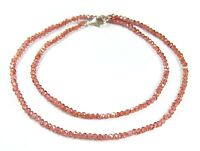 Halskette aus Rhodolith in facettierter Radform Ø-3 mm 925er Silber Verschluss