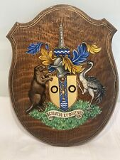 More details for antique oak from house commons ww2 armorial plaque (see photos) civil engineers