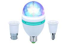 4x KAM Moonbulb LED RGB Rotating Disco Light Effect House Party Coloured Bulb