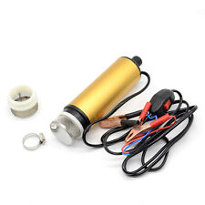 1x Electric Water Car Camping Submersible Oil Pump Belt Filter Net Transfer Tool