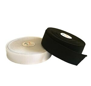 1 inch (25 mm) WIDTH-25 METRE ELASTIC ROLL - EXCELLENT QUALITY IN BLACK & WHITE