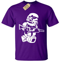 Kids Boys Girls LEGO TROOPER T-Shirt storm wars jedi vader star yoda funny top