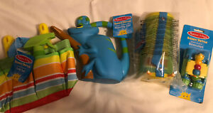 Melissa & Doug Sunny Patch Blue Watering Can Tote Bug House Binoculars Lot Boy