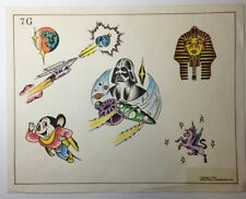 Tom Spaulding Vintage Tattoo Flash With Acetate Stencils
