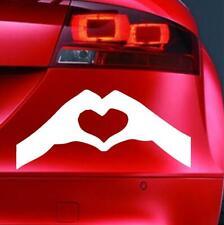 Funny Sticker LOVE HEART HANDS v1 Car Van Bumper Window Bike Vinyl Novelty Decal