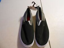 NEW Faded Glory Mens Black Grey White Slip On Shoes Size 13