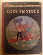 "Album Tintin ""Coke en stock"" - Edition originale Danel B24 1958"