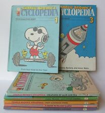 LOT OF 7 VINTAGE CHARLIE BROWN'S CYCLOPEDIA BOOKS