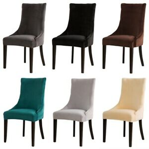 Sloping Arm Chair Cover Universal Wing Back King Seat Covers For Hotel Party