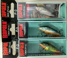 RAPALA original Floating  F3-FMN, F3-BSM, F3-SSM lote 3 Rapala - lot 3 lures