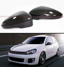 1:1 Replacement Carbon Fiber Side Mirror Cover For 2010-14 Golf 6 Mk6 GTI R VI