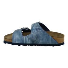 Birkenstock Arizona Sandals Birko-Flor Soft Footbed Jeans Washed Out Blue 40 N
