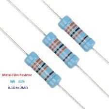 10pcs Metal Film Resistor 3w Tolerance 1 Full Range Of Values01 To 2m