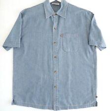 COLORADO Mens Shirt Size M Short Sleeve Chambray Button Up Blue Lightweight NWOT